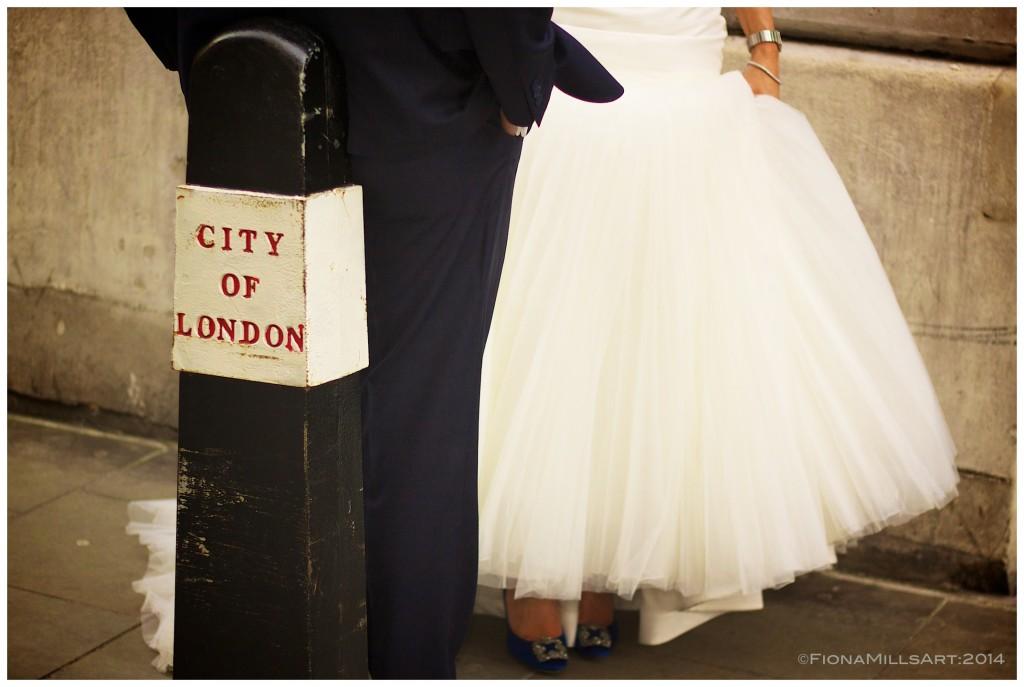 Bride & Groom portrait in London