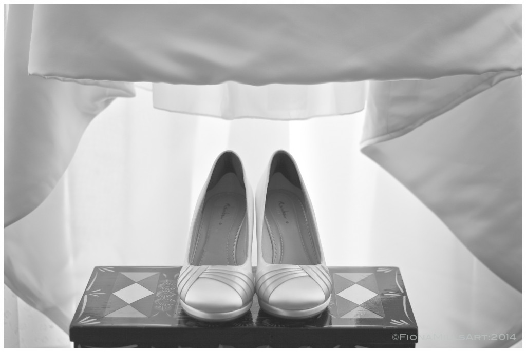 Diane's wedding shoes