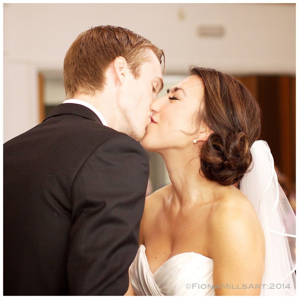 Of course, a wedding would not be complete without a newlywed kiss!
