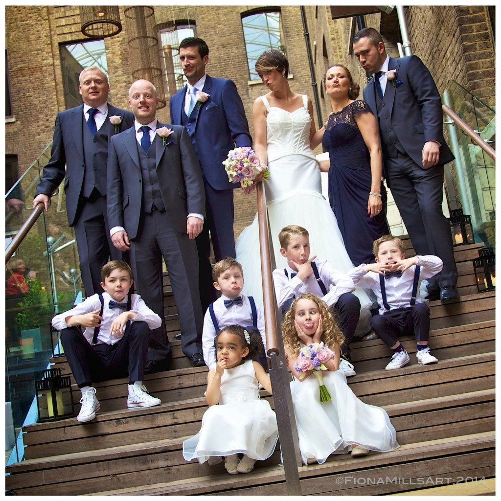 Bridal party portraits, London wedding photography, Devonshire Terrace Photographer