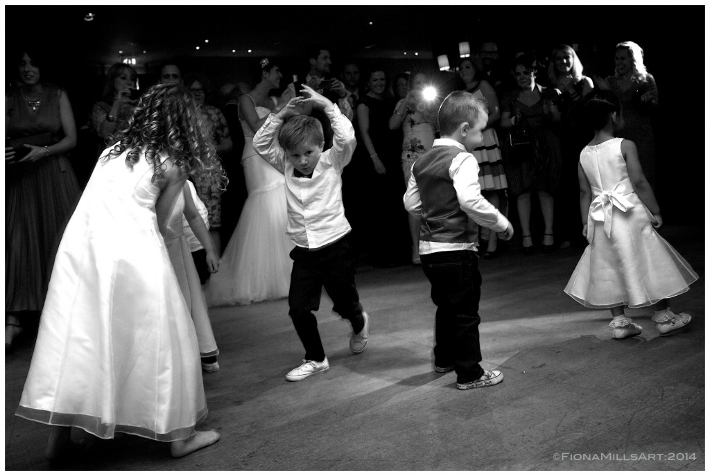 Wedding day first dance, children, bridal party, wedding photography London