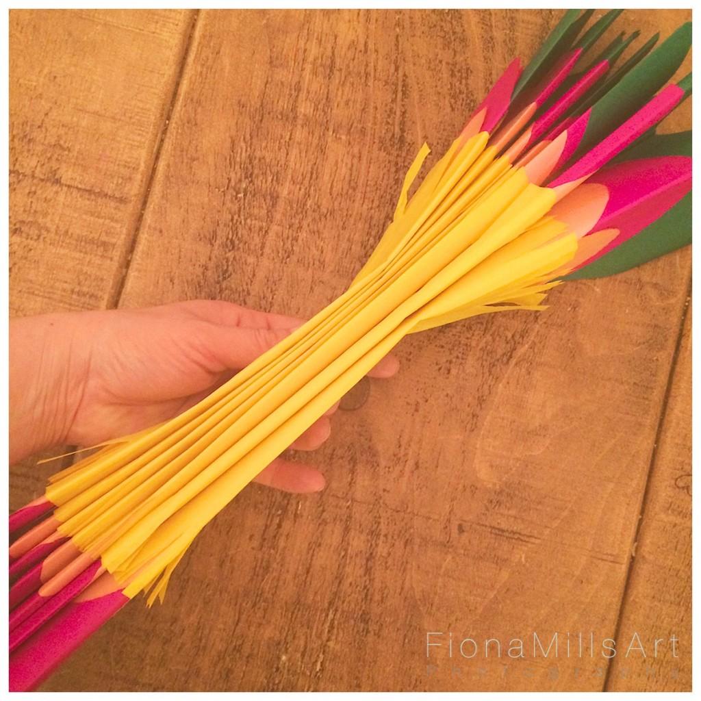 Making paper flowers for weddings 9