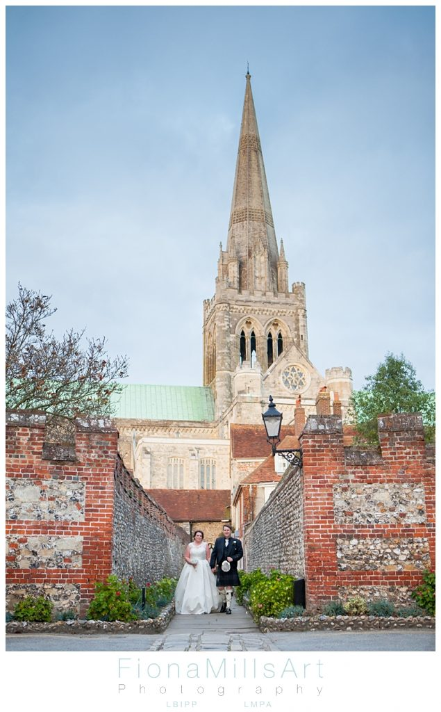 natural Chichester cathedral wedding photographer