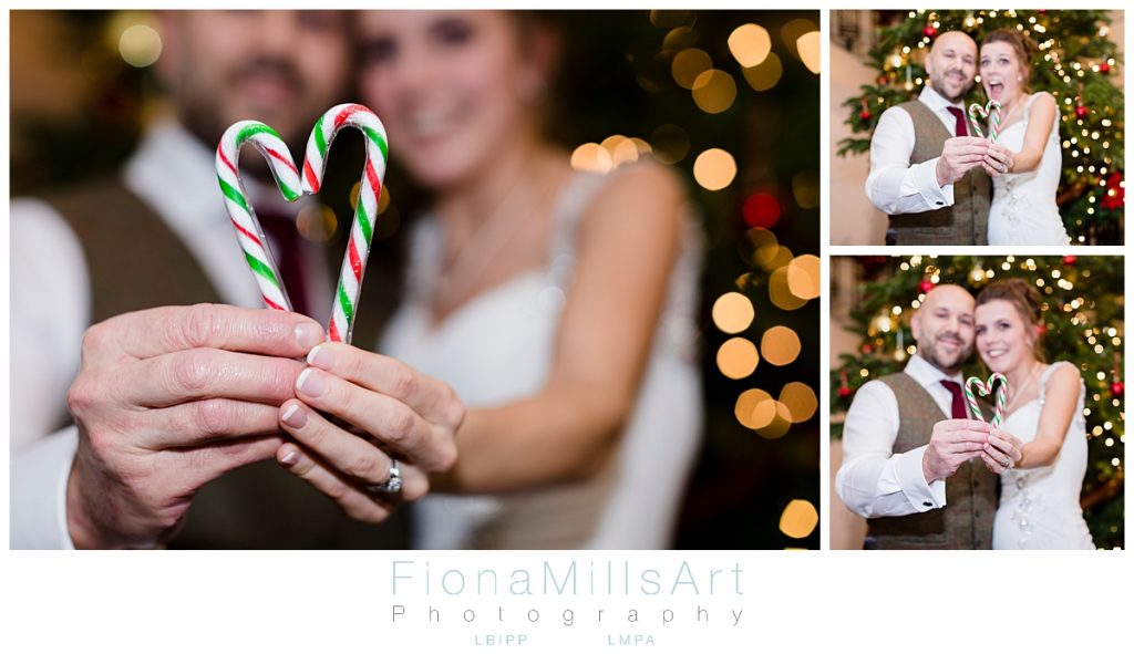 Christmas wedding photography